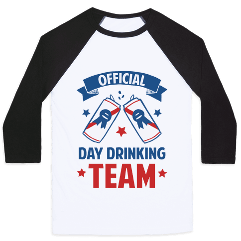 Official Day Drinking Team Baseball Tee