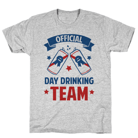 Official Day Drinking Team Mens/Unisex T-Shirt
