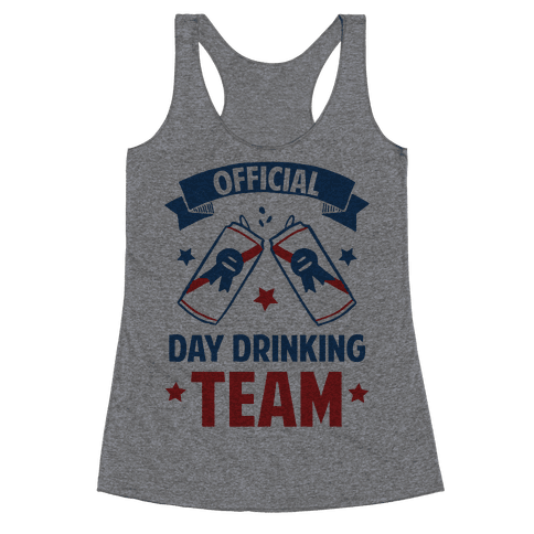Official Day Drinking Team Racerback Tank Top
