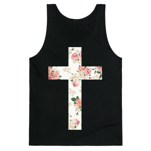 Floral Cross Tank Top