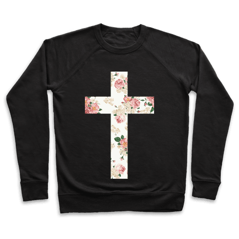 Floral Cross Pullover
