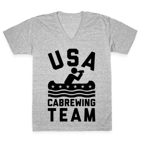 USA Cabrewing Team V-Neck Tee Shirt