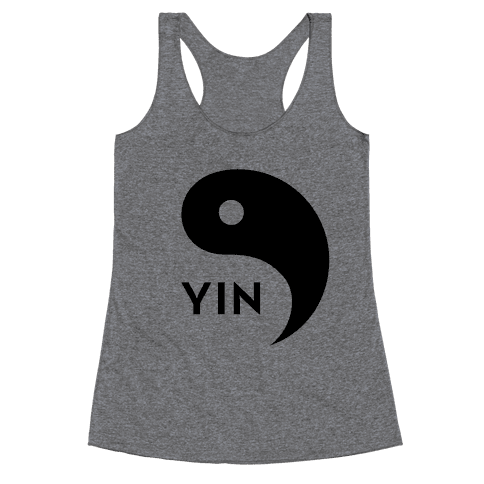 Yin Yang (Yang, Part 2) Racerback Tank Top