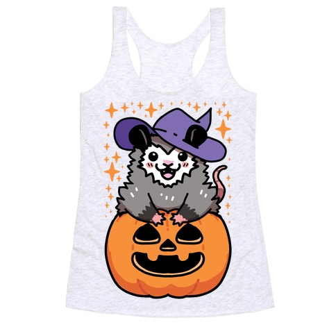 Cute Halloween Possum Racerback Tank Top