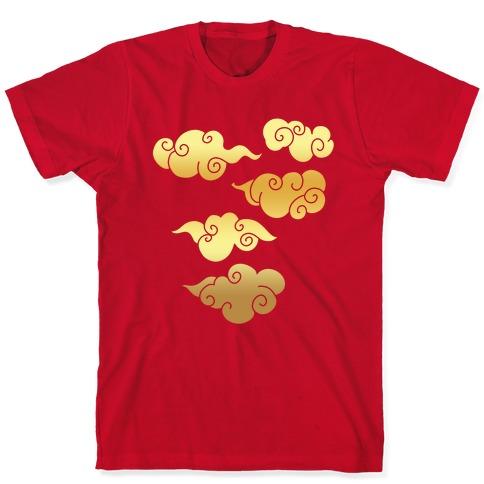 Oriental Clouds Pattern T-Shirt