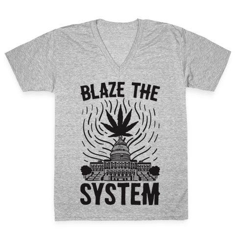 Blaze The System V-Neck Tee Shirt