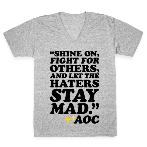 Shine On Fight For Others V-Neck Tee Shirt