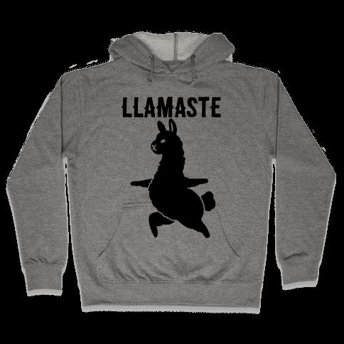 Llamaste Yoga Llama Hooded Sweatshirt