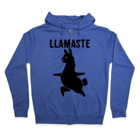 Llamaste Yoga Llama Zip Hoodie