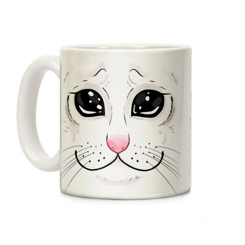 Crying Cat Face Coffee Mug