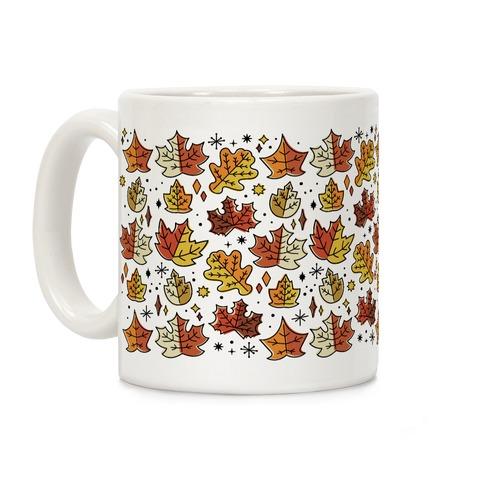 Mid Century Modern Fall Leaves Coffee Mug