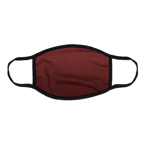 Burgundy Gradient Flat Face Mask