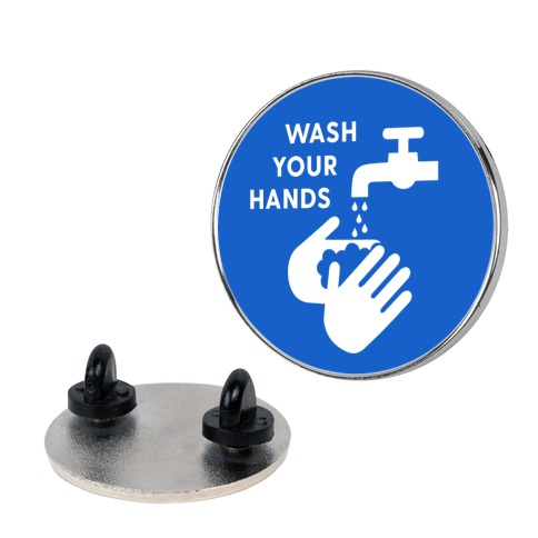 Wash Your Hands Icon Pin