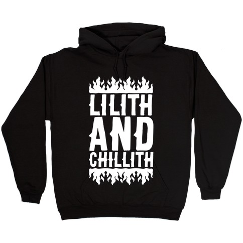 Lilith And Chillith White Print Hooded Sweatshirt