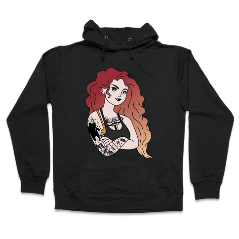Punk Merida Parody Hooded Sweatshirt