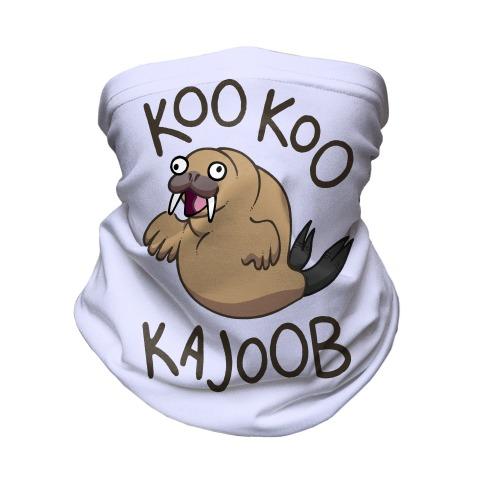 Koo Koo Kajoob Derpy Walrus Neck Gaiter