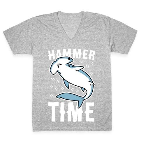 Hammer Time - Hammerhead V-Neck Tee Shirt