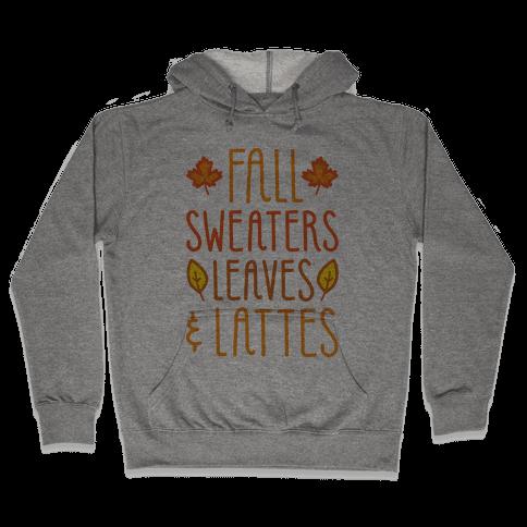 Fall Sweaters Leaves & Lattes Hooded Sweatshirt
