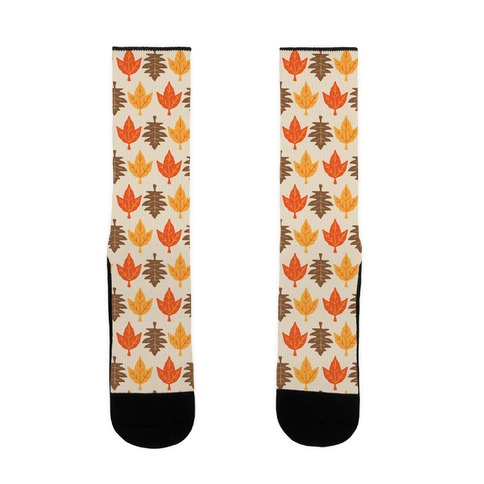 Autumn Leaves Pattern Sock