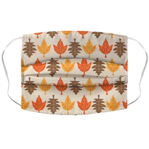 Autumn Leaves Pattern Accordion Face Mask