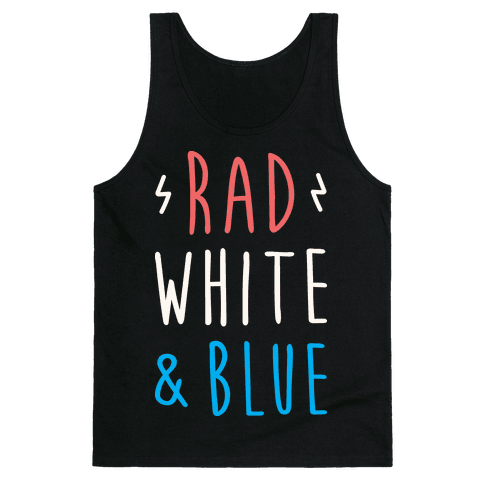 Rad White & Blue Tank Top