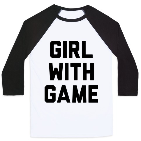 Girl With Game Baseball Tee