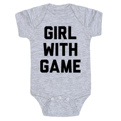 Girl With Game Baby Onesy