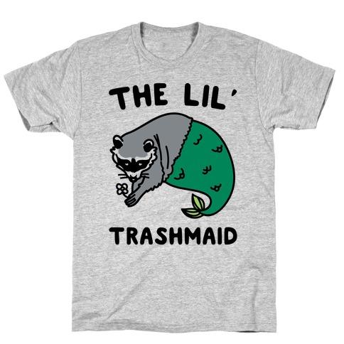The Lil' Trashmaid Raccoon Mermaid Parody T-Shirt