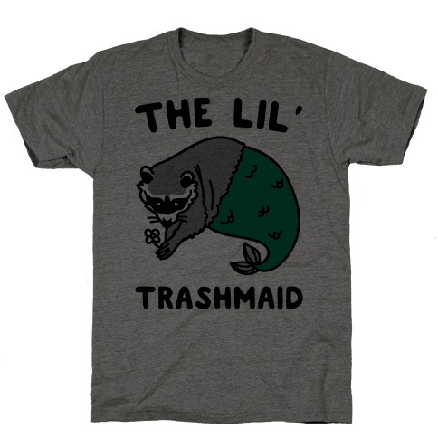 The Lil' Trashmaid Raccoon Mermaid Parody Mens T-Shirt