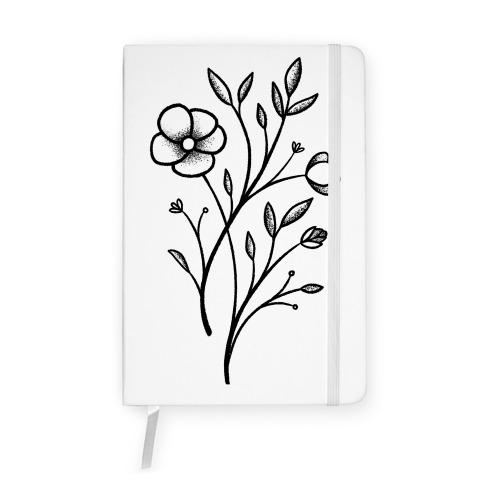 Wildflower Stippled Tattoo Notebook
