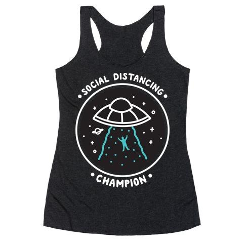 Social Distancing Champion UFO Racerback Tank Top