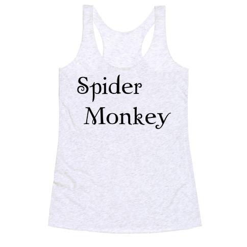 Spider Monkey Racerback Tank Top