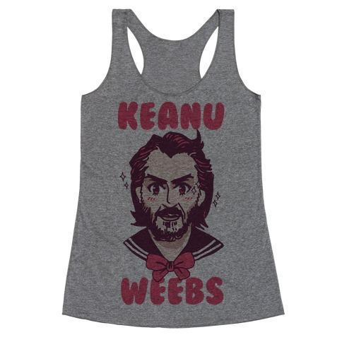 Keanu Weebs Racerback Tank Top