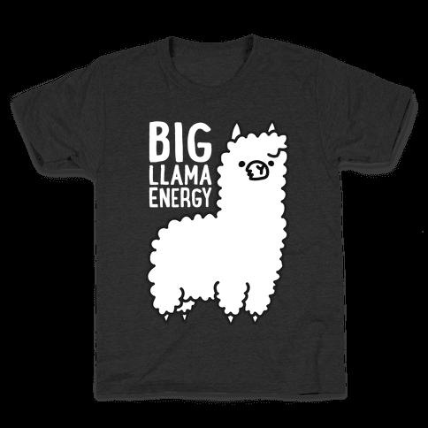 Big Llama Energy Kids T-Shirt
