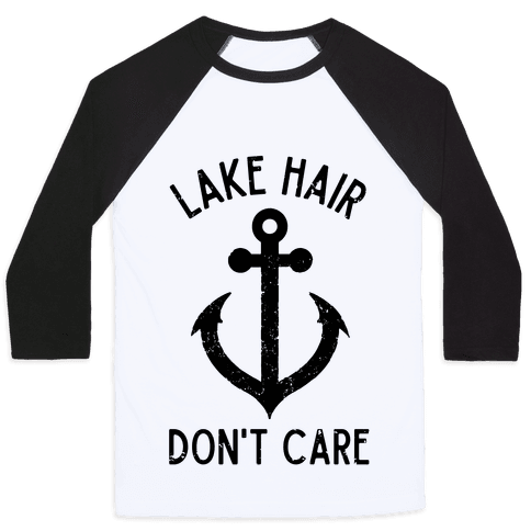 Lake Hair Don't Care Baseball Tee