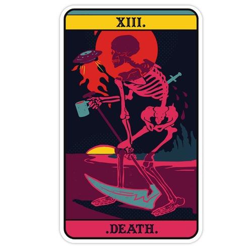 Colorful Death Tarot Die Cut Sticker