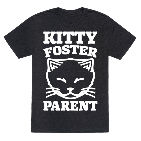 Kitty Foster Parent White Print Mens/Unisex T-Shirt
