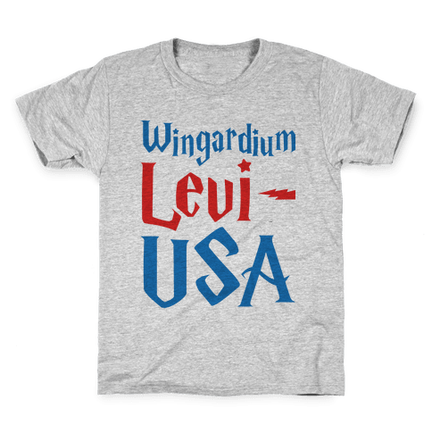Wingardium Levi-USA Kids T-Shirt