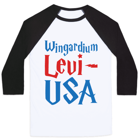 Wingardium Levi-USA Baseball Tee