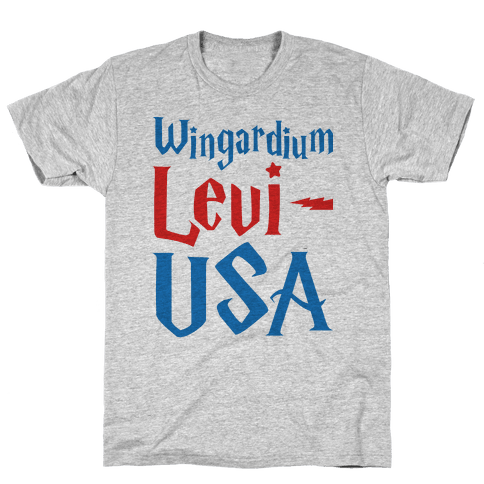 Wingardium Levi-USA Mens T-Shirt