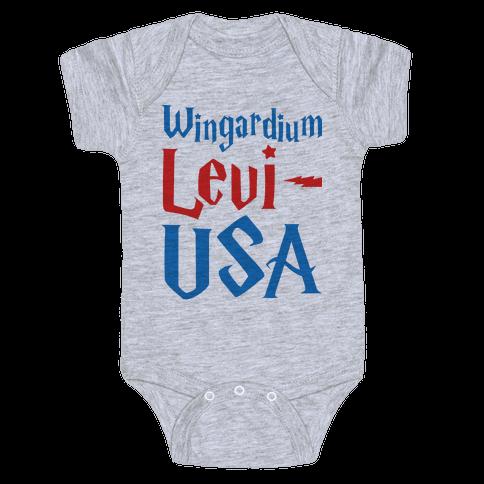 Wingardium Levi-USA Baby Onesy