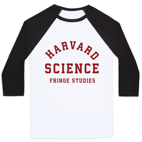 Harvard Fringe Parody Baseball Tee