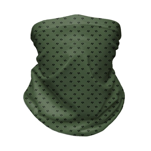 Dainty Dashes Chive Green Neck Gaiter