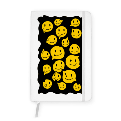 Melting Smiley Faces Notebook