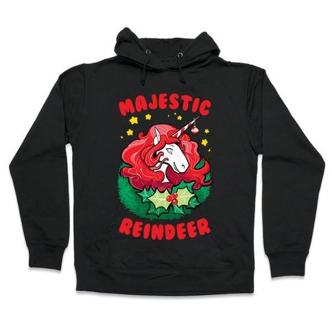Majestic Reindeer Hooded Sweatshirt