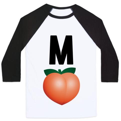 M Peach Impeach Baseball Tee
