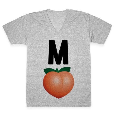 M Peach Impeach V-Neck Tee Shirt