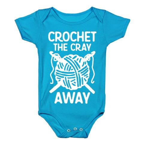 Crochet The Cray Away Baby Onesy