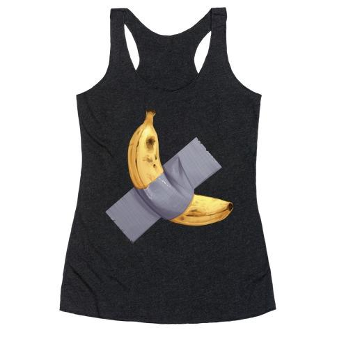 Banana Duct Tape Racerback Tank Top
