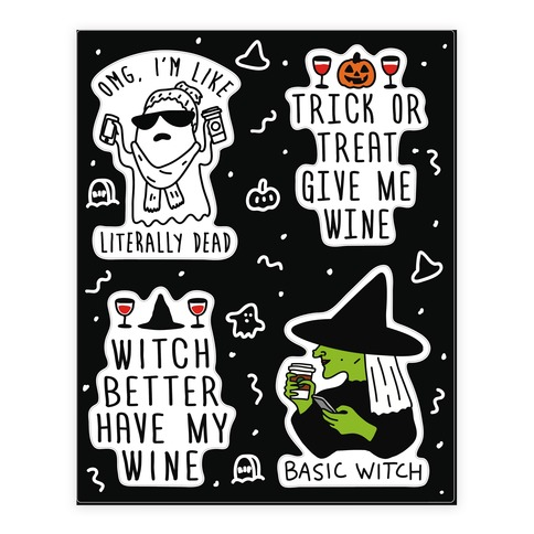 Basic Halloween Sticker Sheet Sticker/Decal Sheet